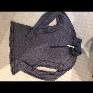 Lululemon Athletica sz 12 Large 3/4 zip shirt